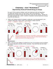 09 Ws4 Key Doc Name Date Pd Chemistry Unit 7 Worksheet 4