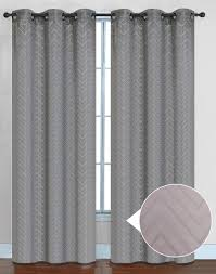 chevron thermal blackout curtain panels