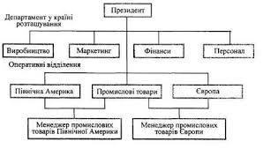 Організаційний розвиток міжнародних корпорацій refsua Рис 5 5 Глобальна функціональна структура