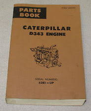 caterpillar engine manual caterpillar cat d343 diesel engine parts manual 62b1 up ue033992 1972