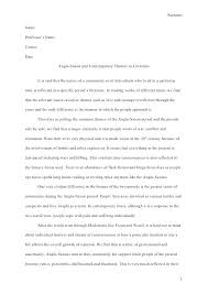 Apa Format Essay Example Paper Template Word Example Of A Literature