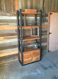 bookshelf with drawers. Perfect Drawers Industrial Reclaimed Wood Storage Bookshelf Open Shelving  Drawers And Bookshelf With I
