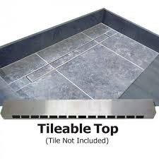 60 x 36 easy step shower pan tileable grate