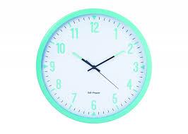 zone wall clock studio 44cm light blue sp41138