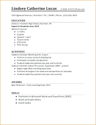first resume examples 17 doc first resume example for a highschool student