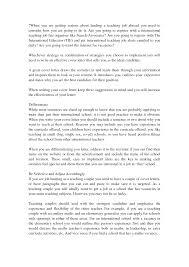 Sample Cover Letter For Teaching Overseas Paulkmaloney Com