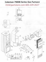 7975b856 coleman gas furnace parts hvacpartstore click here to view a manual for the coleman 7975b856 which includes wiring diagrams
