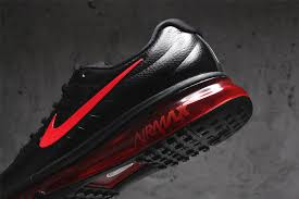 nike running shoes for men black and red. mens nike air max 2017 skin leather black red running shoes for men and