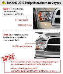 2016 Dodge Ram Fog Light Bulb Details About 9008 H13 Led Headlight Bulb 72w White For Dodge Ram 1500 2006 2012 Super Bright