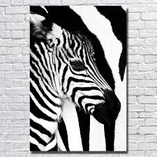 black and white zebra painting top quality modern abstract oil painting canvas wall art paintings with