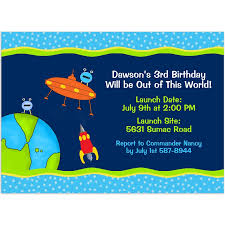 Space Party Invitation Outer Space Rocket Birthday Invitations