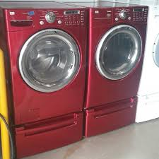 lg washer and dryer. red lg front load washer and electric dryer set lg washer and dryer