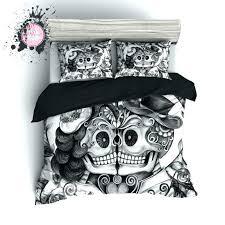 sugar skull sheets sugar skull bed set outstanding quilt cover for your duvet sets with comforter king sugar skull coloring sheets