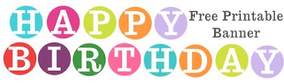 Free Printable Happy Birthday Banner Archives Karen Cookie