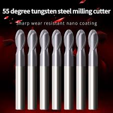 1PCS Fresa HRC55 Ball Nose End Mills Cutting CNC Machine ...