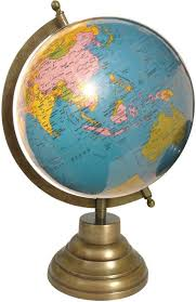 world globe on stand. Globeskart Educational Laminated With Antique Brass Finish Stand Desk \u0026 Table Top Political World Globe On R