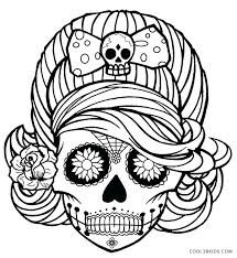 Creepy Coloring Pages Printable Skulls Coloring Pages For Kids