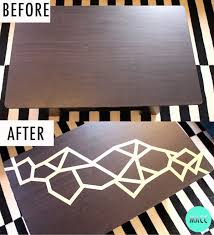 Washi tape table before and after