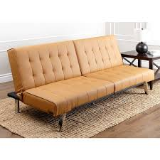 contemporary leather sofa sleeper. abbyson jackson camel leather foldable futon sofa bed contemporary sleeper