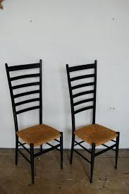 black ladder back chairs mid century tall