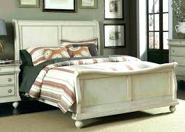 Distressed White Bed Distressed White Bed Rustic Bedroom Furniture ...