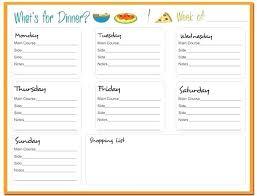 menu planner template free printable weekly meal planner template menu recipe food