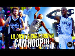 It has the hilarious rapper exchanging bodies with the fabulous chris. Chris Brown Lil Dicky Can Hoop Chris Brown S Got Bounce Jelly Too Full Highlights Youtube