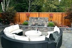 curved outdoor seating curved outdoor seating with piece lounge sets patio traditional and ottoman beige cushions