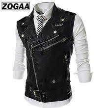 <b>Mens</b> Faux Leather Biker <b>Vest</b> in <b>2019</b> | clothes | <b>Waistcoat men</b> ...