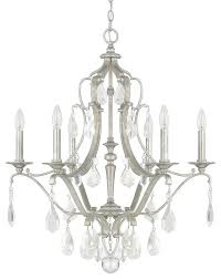 blakely antique silver 6 light