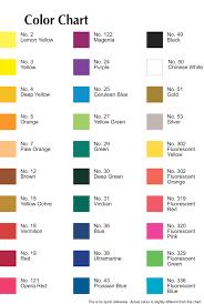 Sakura Poster Color Chart Pentel Poster Color Chart Coloringssite Co