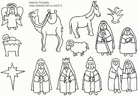 Small Picture Printable Coloring Pages Nativity