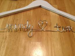 diy personalized wedding gown hanger budget fairy tale