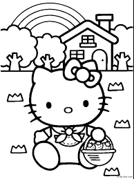 Kitty Coloring Pages Printable Free Hello Kitty Coloring Sheets For