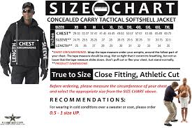 Soft Shell Jacket Size Chart Concealed Carry Tactical Soft Shell Jacket Black