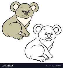koala coloring book vector image