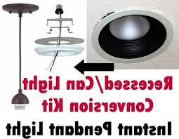 convert recessed light pendant. convert can light to pendant with dining room tutorial how recessed lights pendants