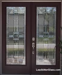 american bevelled glass door 2