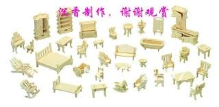 make your own doll furniture. 1:24 Lovely 34PCS 3Dwoodcraft Wooden Dollhouse Doll House . Make Your Own Furniture