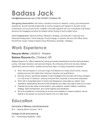 resume templates free resume templates badass career resources for 2019