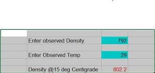 Temperature Around 15 Deg C Density Conversion For