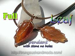 leaf pendant with flat teardrop stone without holes full version slow 333