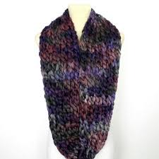 Knitted Scarf Patterns Using Bulky Yarn Awesome Oversized Snood Scarf In Purple Super Chunky Infinity Scarf
