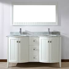 bridgeport 60 inch white double sink bathroom vanity hand stained
