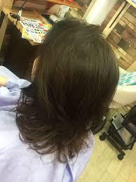 60代に近づくとこういうヘアスタイルを提案したい 毛先にパーマ