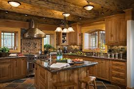 rustic cabin kitchens. Rustic Log Cabin Kitchen Cabinets Kitchens With Decor N