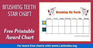 Weekly Star Chart Free Brushing Your Teeth Chart Weekly Star Acn Latitudes