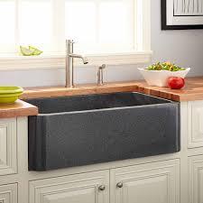 Kitchen Sinks Granite 36 Polished Granite Farmhouse Sink Blue Gray Kitchen