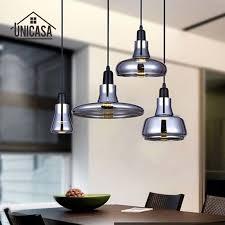 Art Deco Kitchen Lighting Modern LED Pendant Lights Vintage Kitchen Island Office Bar Shop Glass Shade Lighting Fixture Art Deco