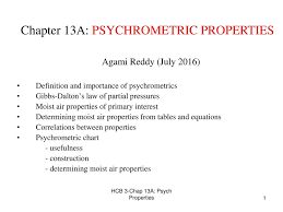 Psychrometric Chart Ppt Chapter 13a Psychrometric Properties Ppt Download